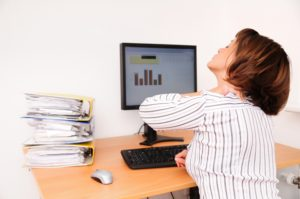 Neck Pain at Desk Image